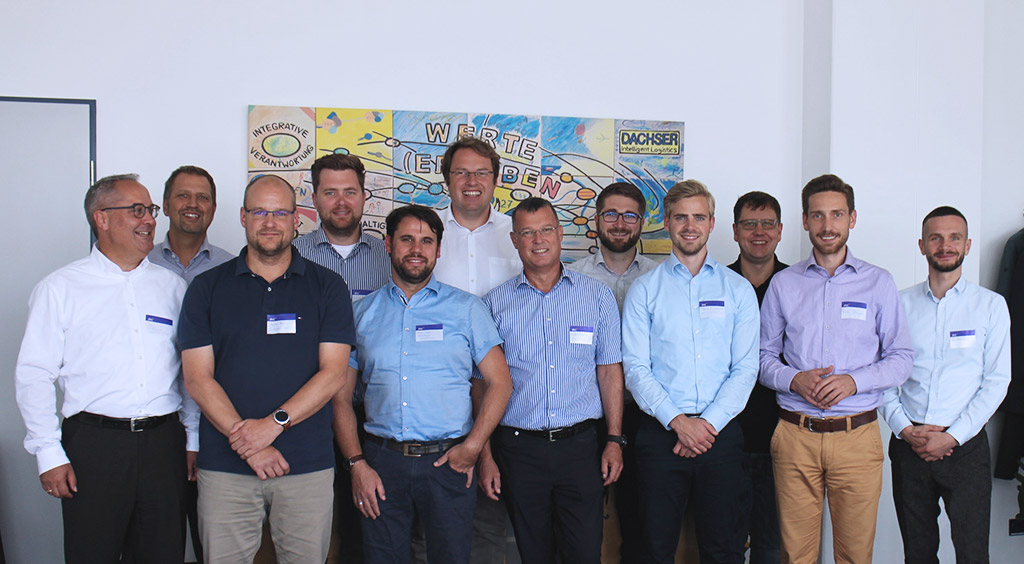 Aufnahme eines Treffen der Expertengruppe beim Bewerten neuer Technologien der Intralogistik
